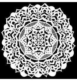 The Crafter's Workshop The Crafter's Workshop • Sjabloon Fancy Mandala 15,2x15,2cm