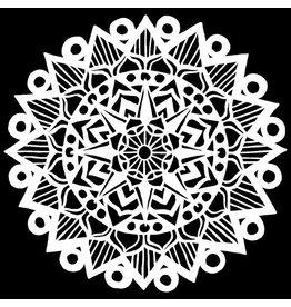 The Crafter's Workshop The Crafter's Workshop • Sjabloon Striped Mandala 15,2x15,2cm