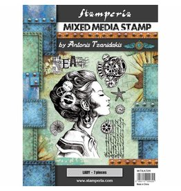 Stamperia Stamp cm. 15x20 - Sea World Lady