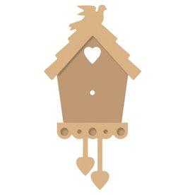 Vaessen Creative Vaessen Creative • MDF Klok Vogelhuis