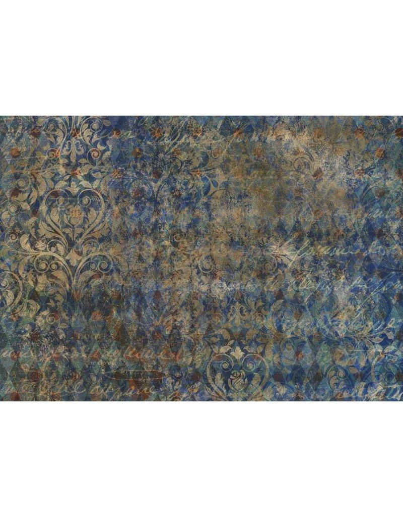 Decoupage Queen Blue Harlequin A3