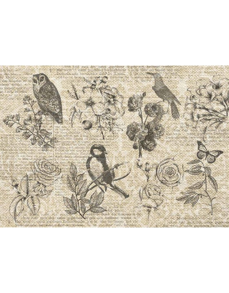 Decoupage Queen Burlap Flying Things A3