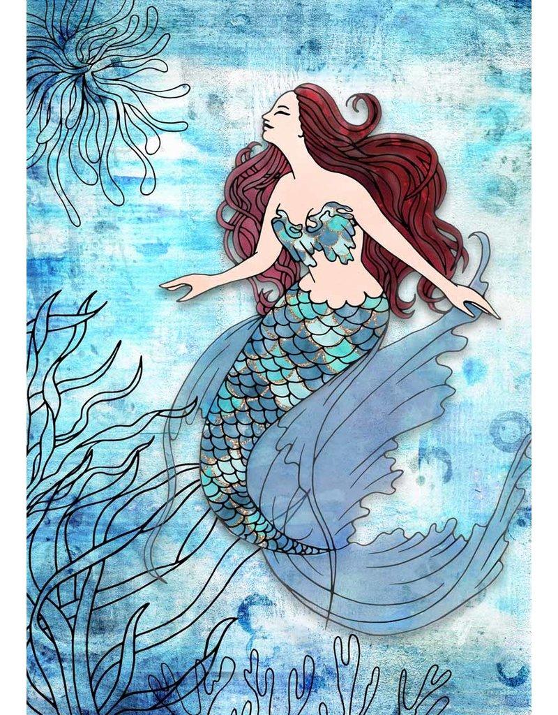 Decoupage Queen Deep Blue Mermaid A4