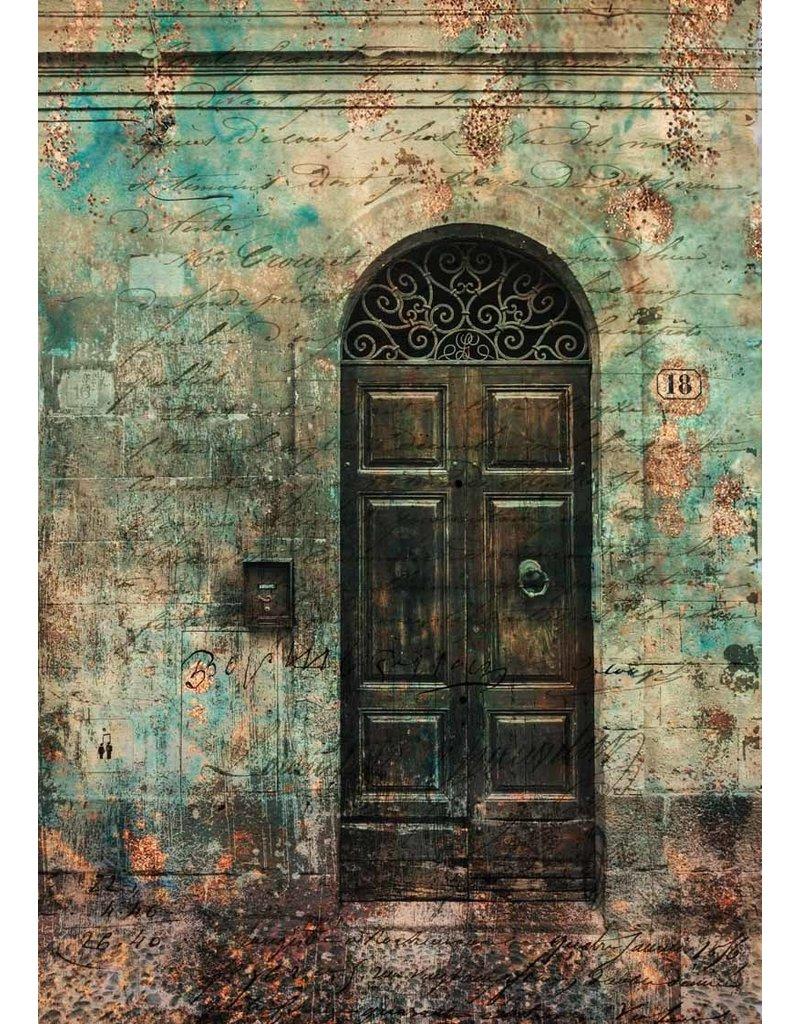 Decoupage Queen Antique Door with Scrollwork II A4