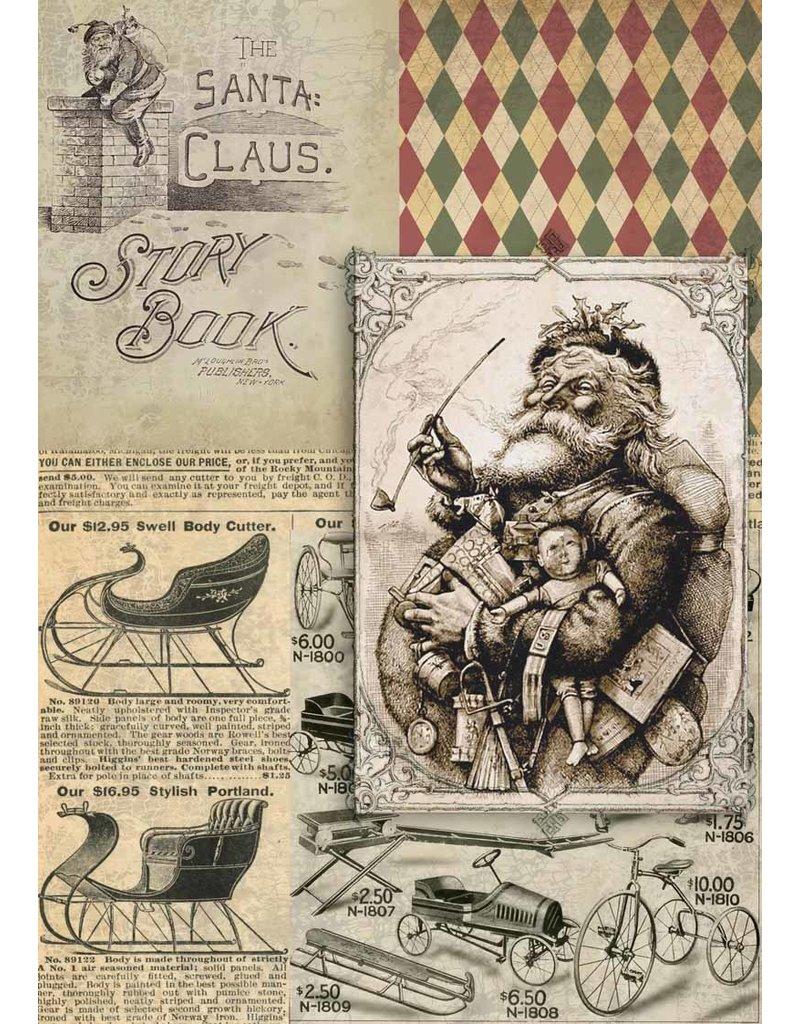 Decoupage Queen Christmas Santa Story Book A4
