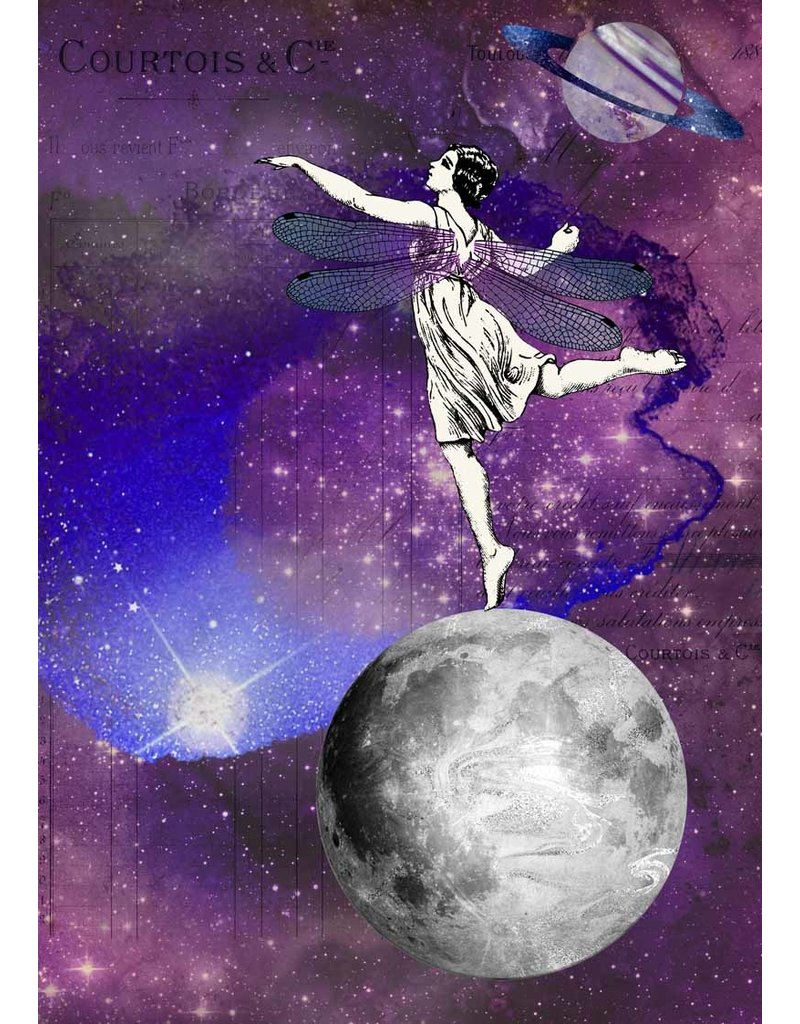 Decoupage Queen Dancing on the Moon A4