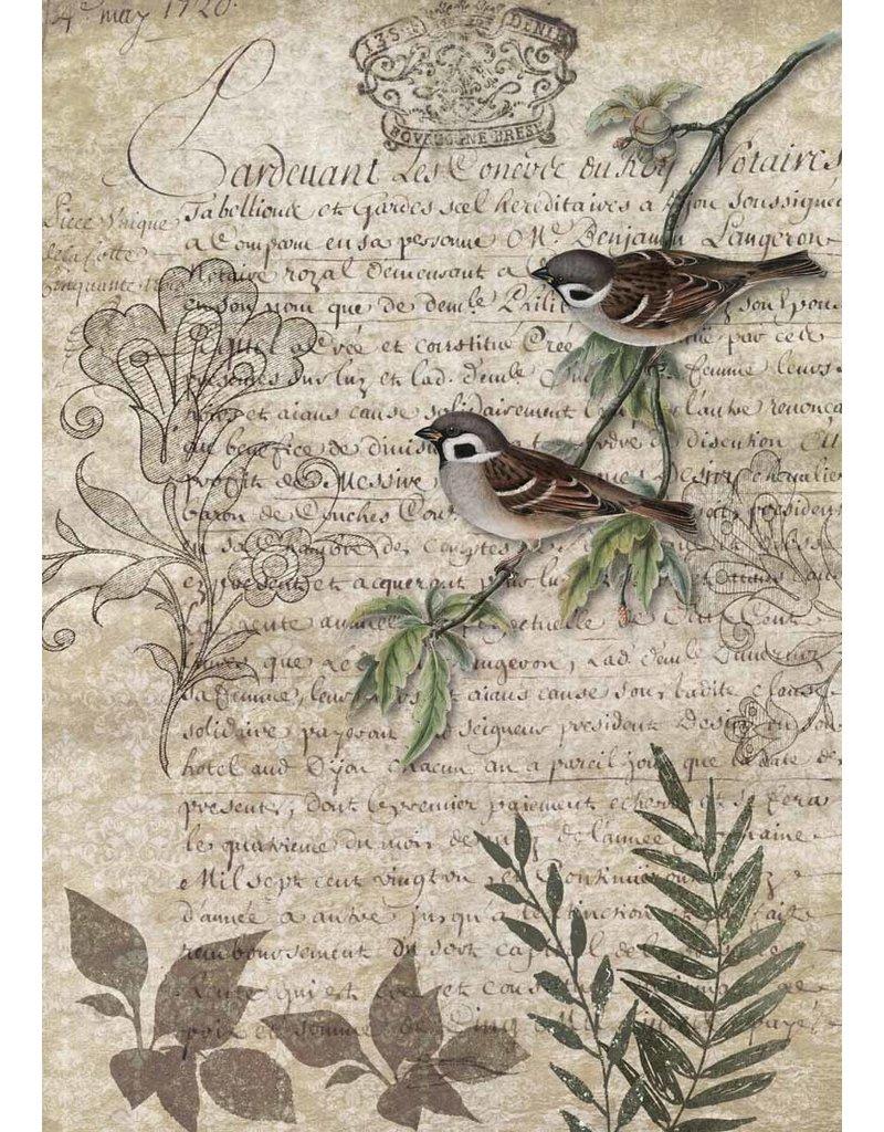 Decoupage Queen Birds on a Branch A4