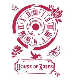 Stamperia Stencil G cm. 21x29,7 Clock House of Roses