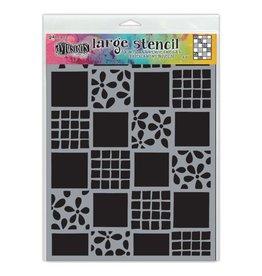 Tim Holtz · Ranger Ranger • Dylusions stencil square dance large