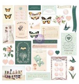 Prima Marketing My Sweet Collection Ephemera - 33 pcs w/ foil details / paper