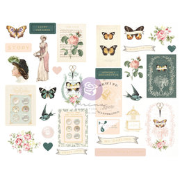Prima Marketing My Sweet Collection Chipboard Stickers - 31 pcs w/ foil details / chipboard stickers