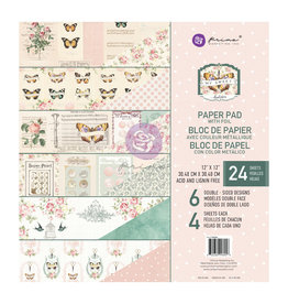 Prima Marketing My Sweet Collection 12x12 Paper Pad - 24 sheets w/ foil details / paper pad