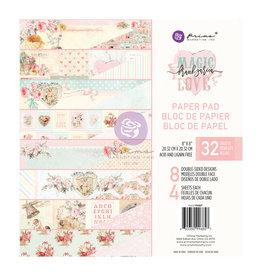 Prima Marketing Magic Love Collection 8x8 Paper Pad - 32 sheets / paper pad