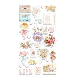 Prima Marketing Magic Love Collection Puffy Stickers - 32 pcs / stickers