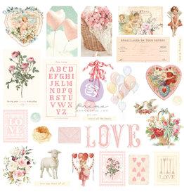 Prima Marketing Magic Love Collection Ephemera - 29 pcs w/ foil details / paper