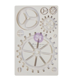 Prima Marketing Finnabair - Moulds - Large Gears - 1 pc, 5x8 in / silicone