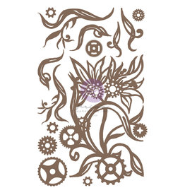 Prima Marketing Finnabair Decorative Chipboard - Steampunk Blooms  - 14 pcs / chipboard