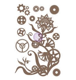 Prima Marketing Finnabair Decorative Chipboard - Steampunk Flowers  - 13 pcs / chipboard