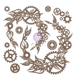 Prima Marketing Finnabair Decorative Chipboard - Steampunk Wreath  - 13 pcs / chipboard