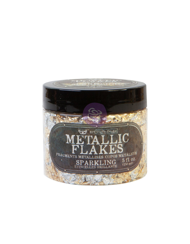 Prima Marketing Art Ingredients - Metal Flakes - Sparkling - 1 jar, total weight 30g including container / foil