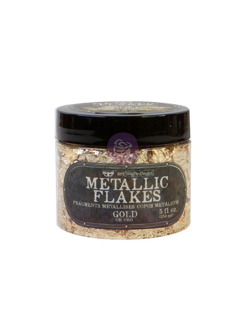 Prima Marketing Art Ingredients - Metal Flakes - Gold - 1 jar, total weight 30g including container / foil