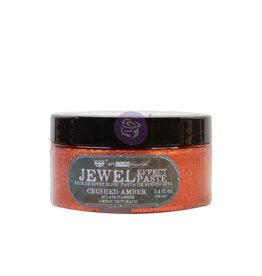 Prima Marketing Art Extravagance - Jewel Texture Paste - Crushed Amber - 1 jar, 100ml (3.4 fl oz) / art paste