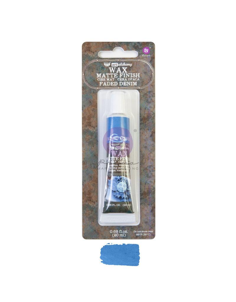 Prima Marketing Art Alchemy - Matte Wax - Faded Denim - 1 tube, 20 ml / wax paste