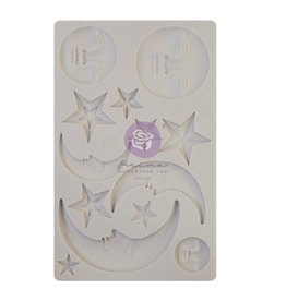 Prima Marketing Finnabair - Moulds - Nocturnal Elements - 1 pc, 5x8 in / silicone