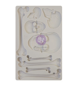 Prima Marketing Finnabair - Moulds - Skull and Bones - 1 pc, 5x8 in / silicone