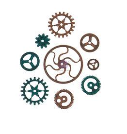 Prima Marketing Mechanicals - Grungy Gears  - 9 pcs / metal