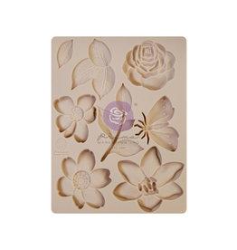 Prima Marketing Watercolor Floral Collection Silicone Mould - 1 pc, 3.5x4.5 in / silicone