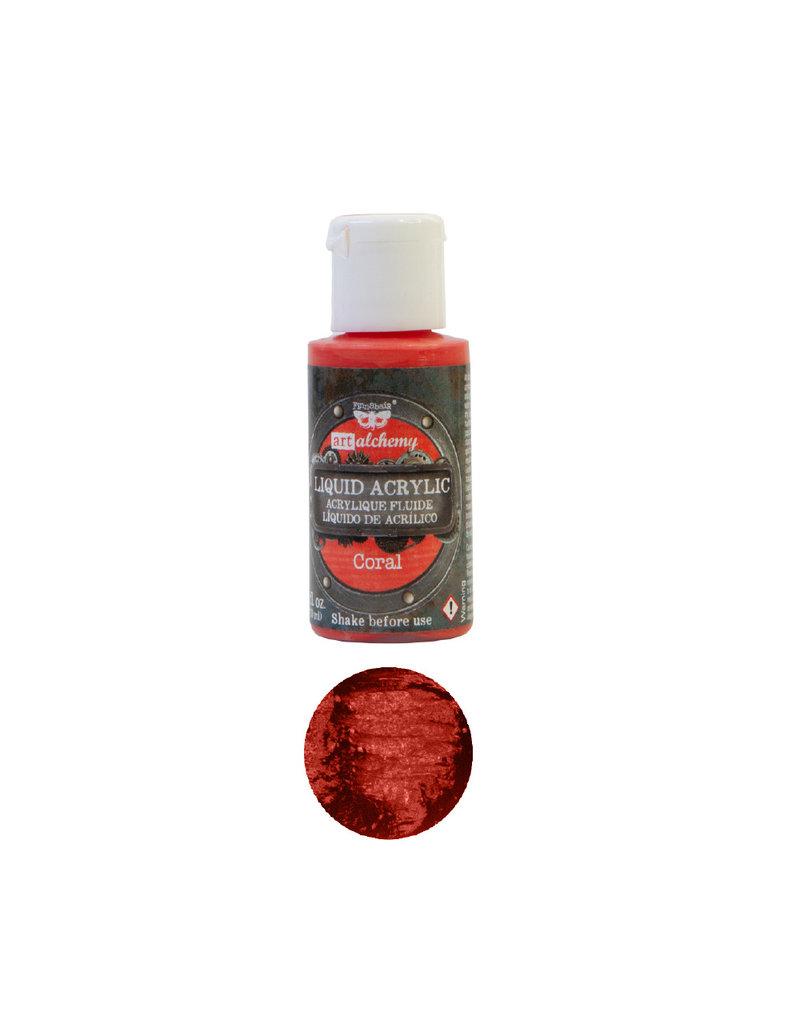 Prima Marketing Art Alchemy - Liquid Acrylics - Coral - 1 bottle, 30ml / art paint