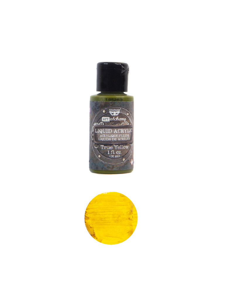 Prima Marketing Art Alchemy-Liquid Acrylic True Yellow - 1 bottle - 30ml / art paint
