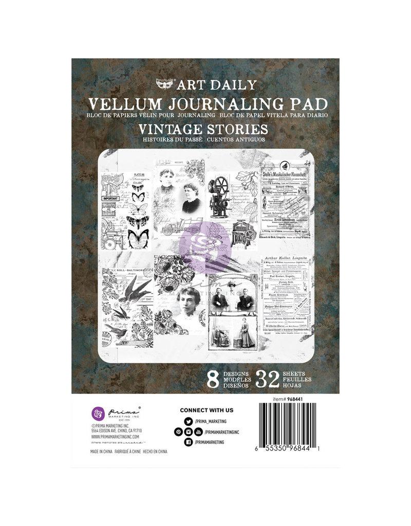 Prima Marketing Art Daily Velum Pad - Vintage Stories - 32 sheets / paper pad
