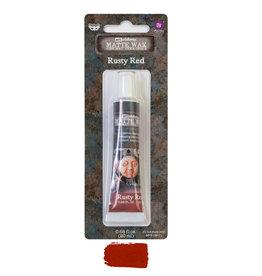 Prima Marketing Finnabair Wax Paste - Rusty Red - 0.68 fl oz (20 ml) / wax paste
