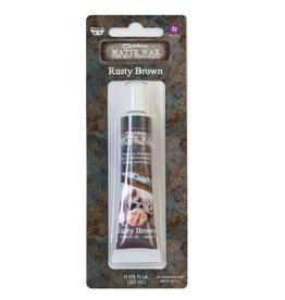 Prima Marketing Finnabair Wax Paste - Rusty Brown - 0.68 fl oz (20 ml) / wax paste