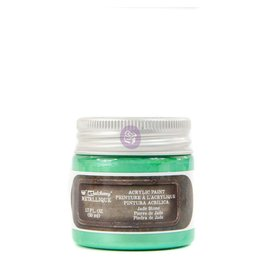 Prima Marketing Finnabair Metallique Acrylic Paint - Jade Stone - 1 jar - 50ml (1.7 oz) / art paint