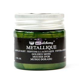 Prima Marketing Art Alchemy - Metallique Acrylic Paint - Golden Moss / acrylic paint