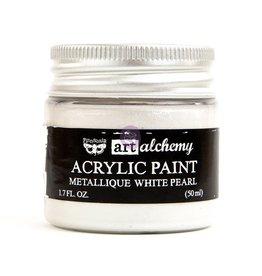 Prima Marketing Art Alchemy - Metallique - White Pearl / acrylic paint