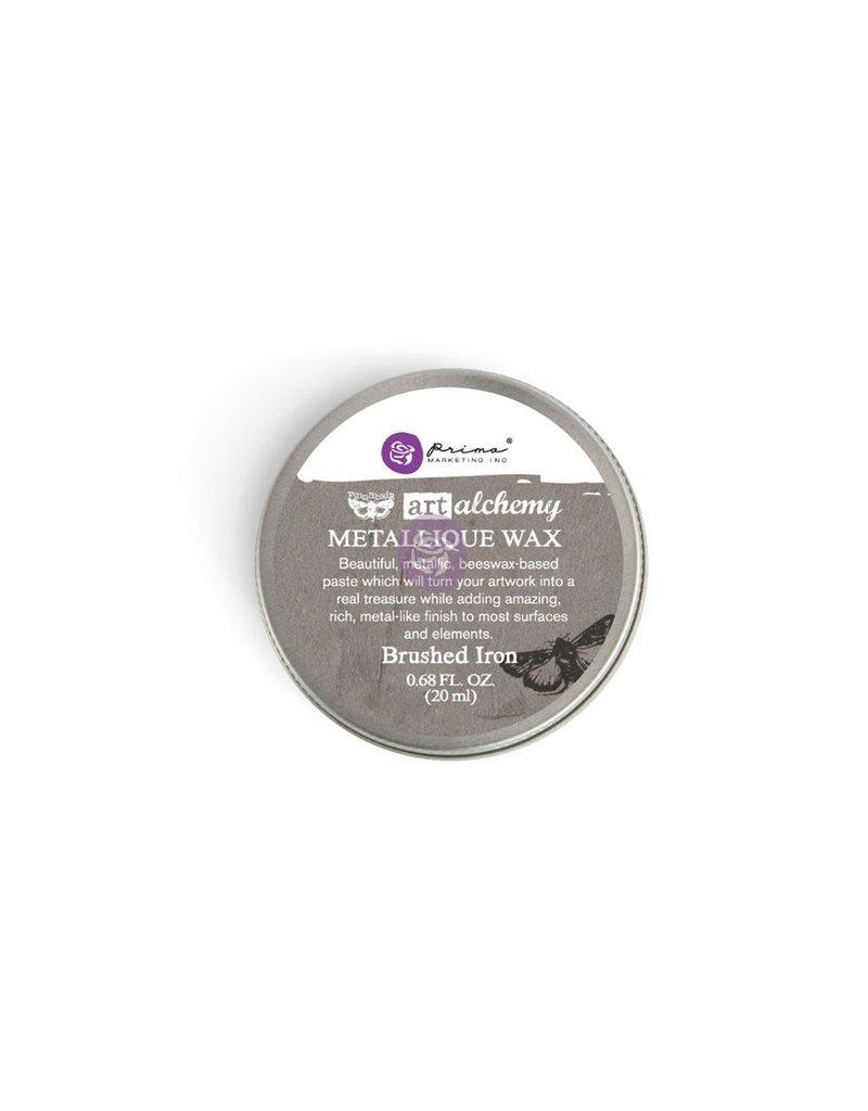 Prima Marketing Art Alchemy-Metallique Wax-Brushed Iron / paste, gel, gesso medium