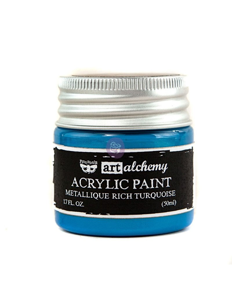 Prima Marketing Art Alchemy-Acrylic Paint-Metallique Rich Turquoise 1.7oz / acrylic paint