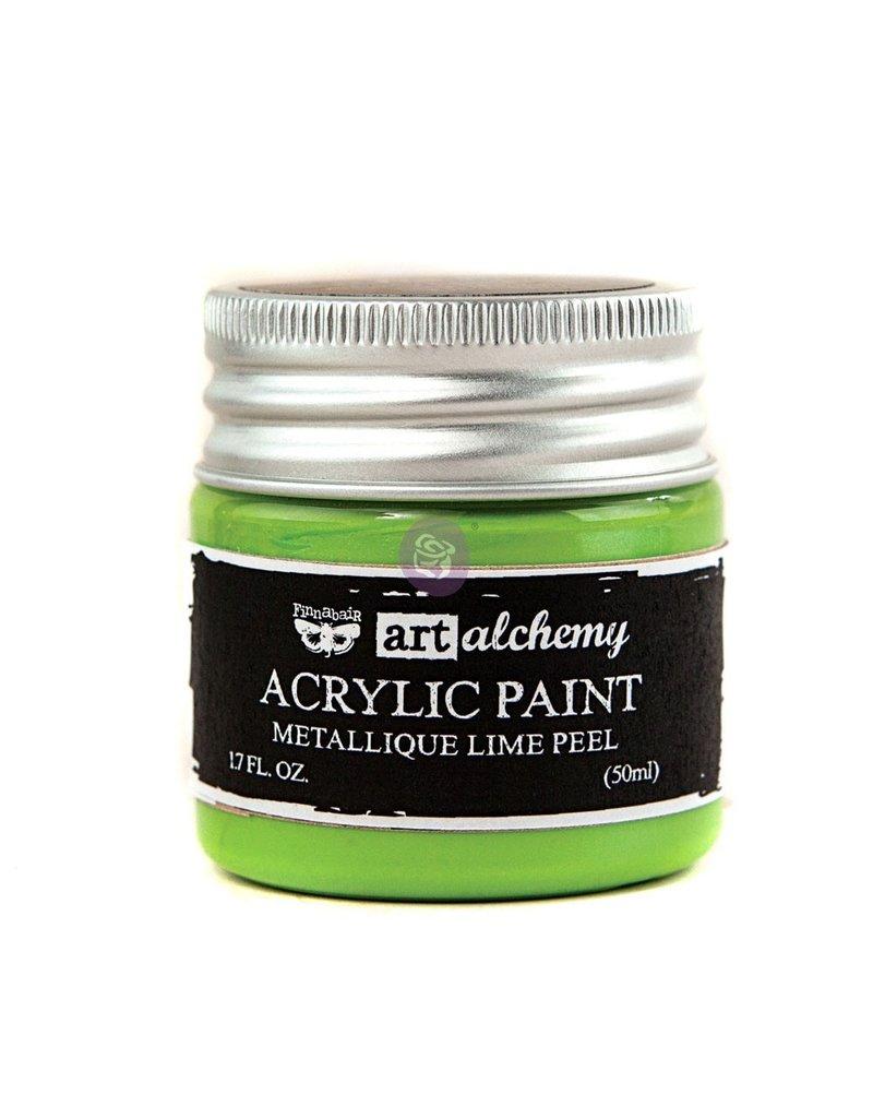 Prima Marketing Art Alchemy-Acrylic Paint-Metallique Lime Peel 1.7oz / acrylic paint