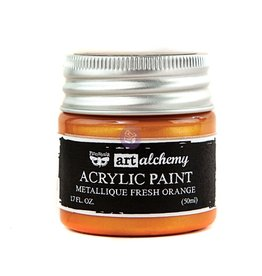 Prima Marketing Art Alchemy-Acrylic Paint-Metallique Fresh Orange 1.7oz / acrylic paint