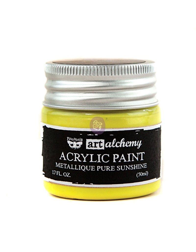 Prima Marketing Art Alchemy-Acrylic Paint-Metallique Pure Sunshine 1.7oz / acrylic paint