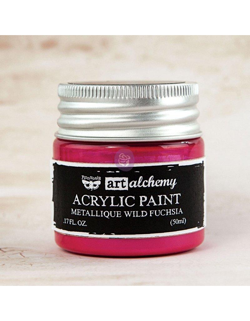 Prima Marketing Art Alchemy-Acrylic Paint-Metallique Wild Fuchsia 1.7oz / acrylic paint water-based