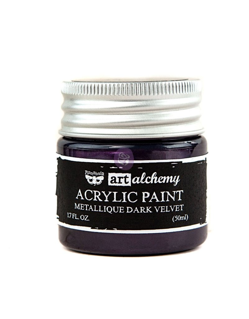 Prima Marketing Art Alchemy-Acrylic Paint-Metallique Dark Velvet 1.7oz / acrylic paint