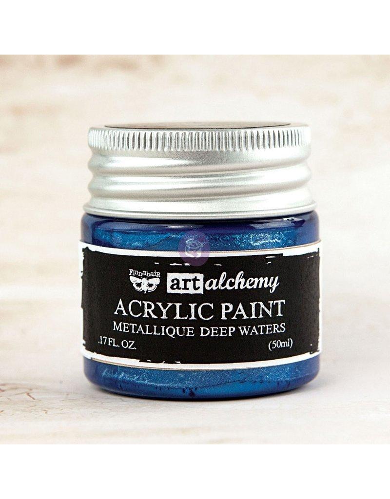 Prima Marketing Art Alchemy-Acrylic Paint-Metallique Deep Waters 1.7oz / acrylic paint water-based