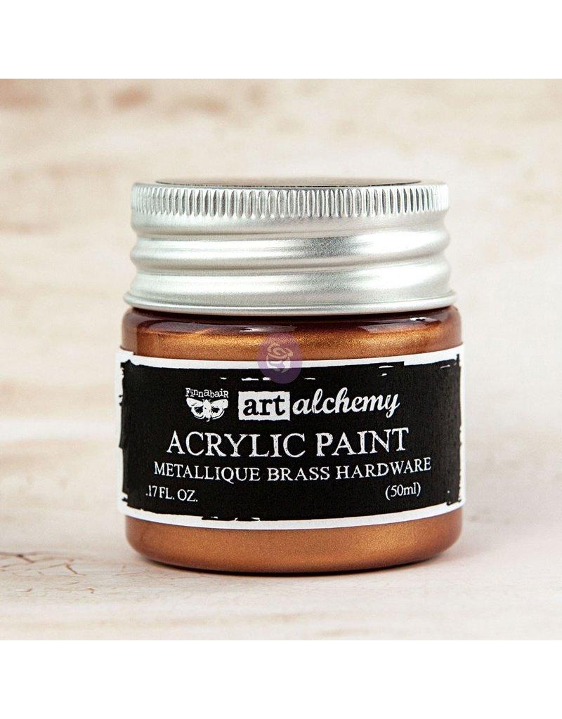 Prima Marketing Art Alchemy-Acrylic Paint-Metallique Brass Hardware 1.7oz / acrylic paint water-based