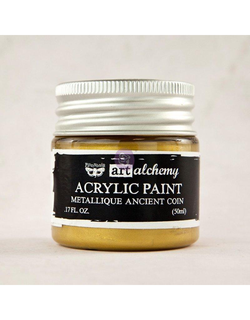 Prima Marketing Art Alchemy-Acrylic Paint-Metallique Ancient Coin 1.7oz / acrylic paint water-based