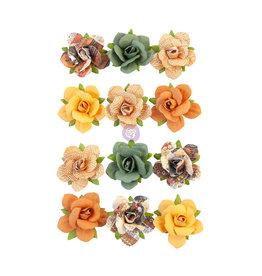 Prima Marketing Prima Flowers® Diamond Collection - Beautiful Sunset - 12 pcs / 1.25 in / mulberry paper